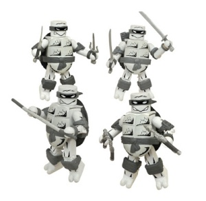San Diego Comic-Con 2015 Exclusive Black and White Mirage Edition Teenage Mutant Ninja Turtles Minimates Box Set