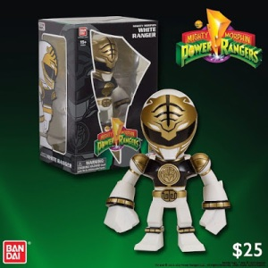 San Diego Comic-Con 2015 Exclusive Mighty Morphin Power Rangers White Ranger Tokyo Vinyl Figure by Touma
