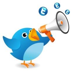 Twitter bird announce
