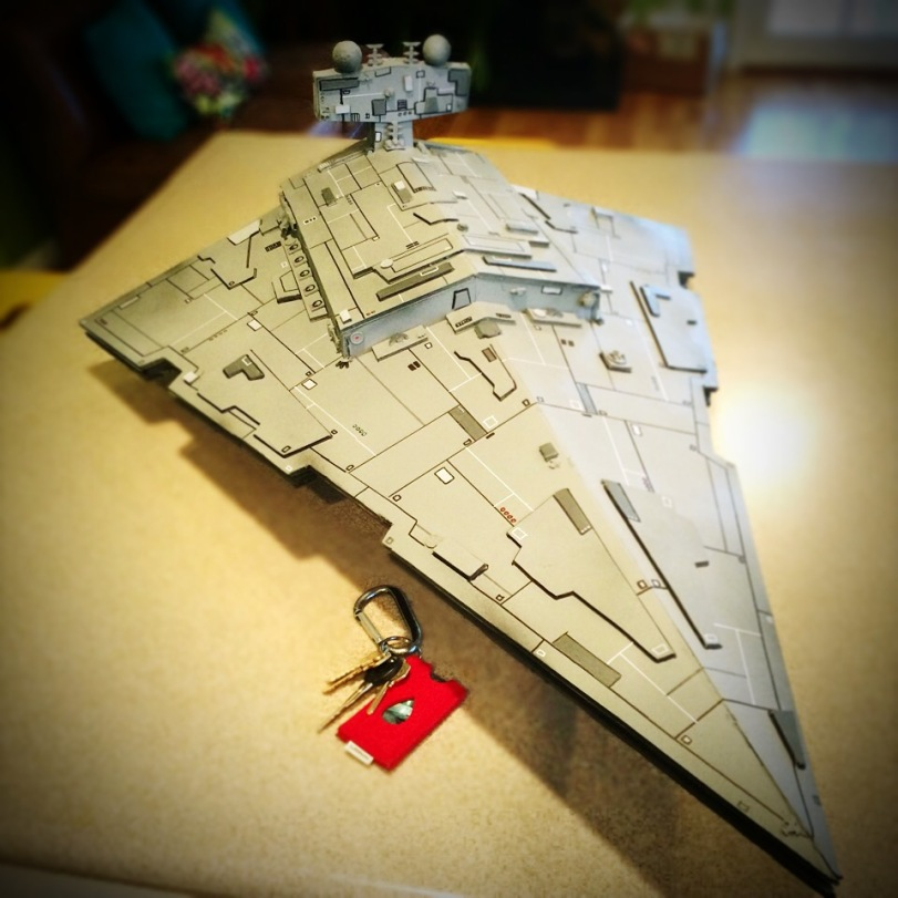 my scratch built star destroyer crazy 4 comic con