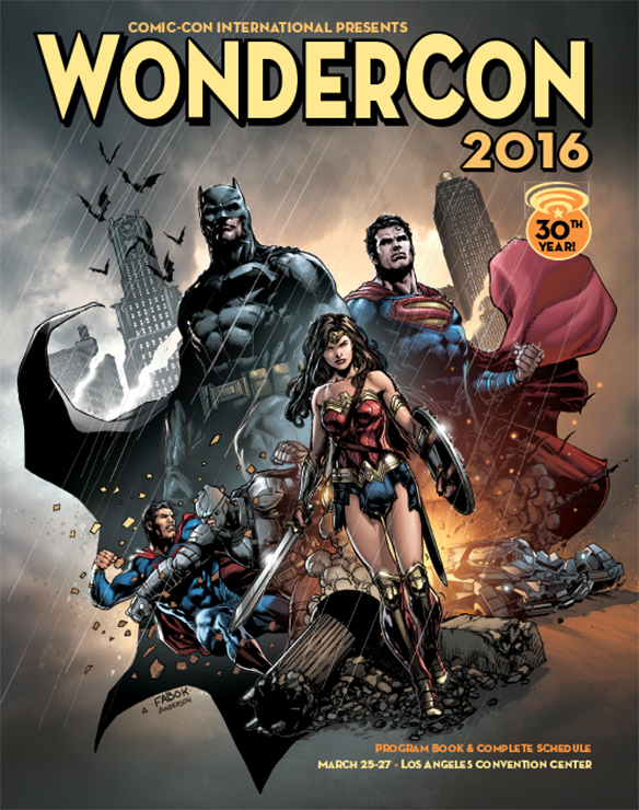 WonderCon Is Just Weeks Away And Comic Con International Released Its Program Book Cover Featuring The DC Holy Trinity Batman Superman Wonder Woman