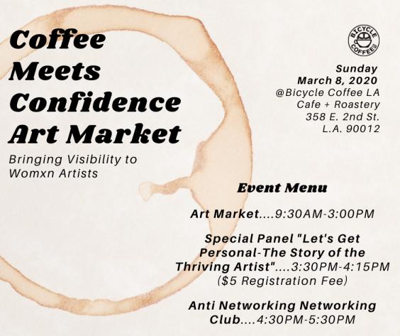 Coffee Meets Confidence Art Market_Event Menu